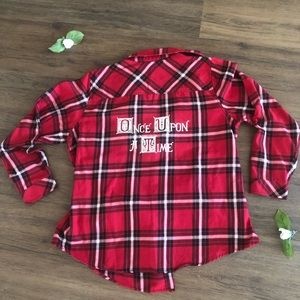 Once Upon a Time Red and Black Plaid Shirt